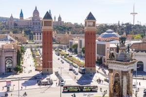 Torres venecianas Plaza Espanya