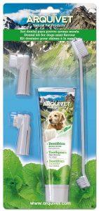 Pasta dental para perro con cepillo de dientes
