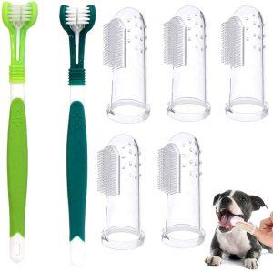 Cepillo de dientes para perro de tres cabezales
