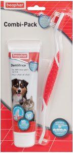 kit de Crema dental para perros y cepillo