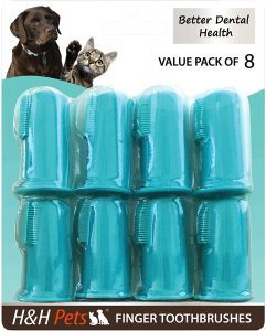 Cepillo de dientes para perro de dedo