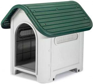 Caseta de plástico para razas de perros medianas. Gardiun