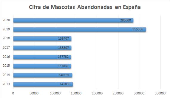 Cifra de mascotas abandonadas en España. Estadística de abandono de mascotas en España
