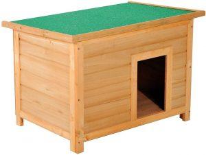 Caseta de madera para perros impermeable