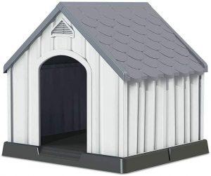 Caseta de plástico para perros grandes. 7H Seven House